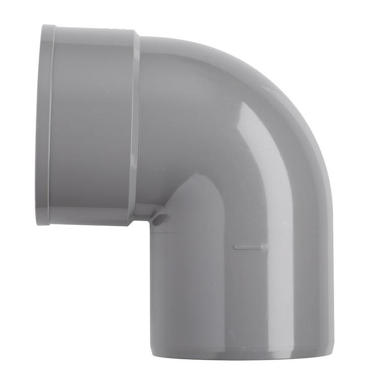 Martens PVC bocht 32mm 2xlijm 87gr grijs