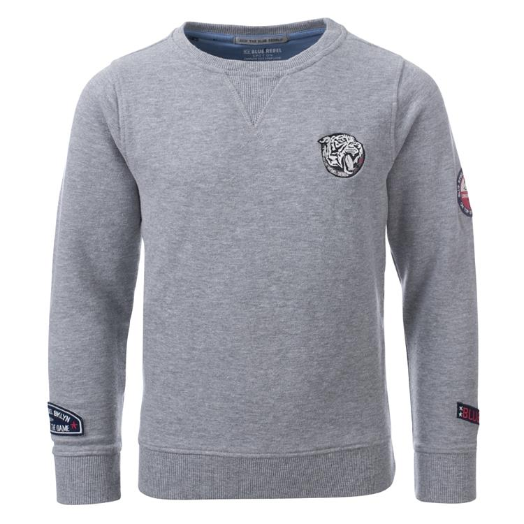 Blue Rebel SPOT ON - sweater crew neck - Grey melee - dudes
