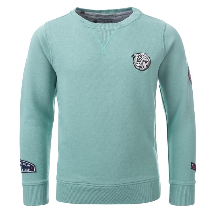 Blue Rebel SPOT ON - sweater crew neck - Mint - dudes