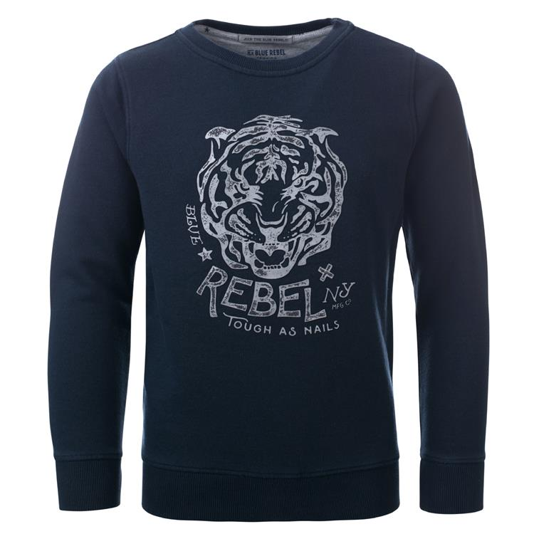 Blue Rebel SPOT ON - sweater crew neck - Night - dudes