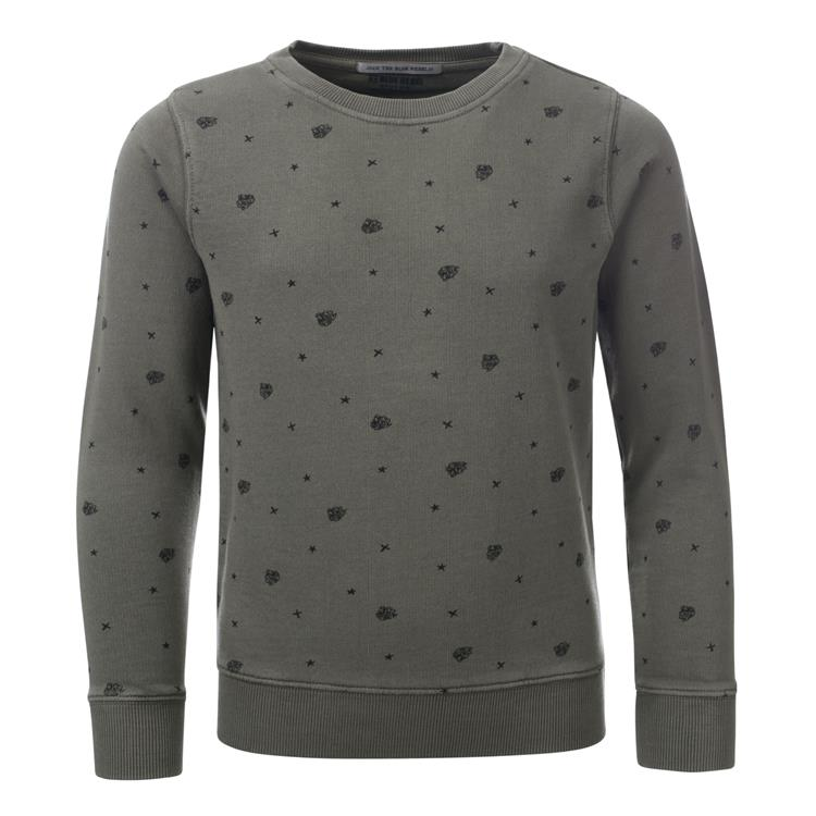 Blue Rebel SPOT ON - sweater crew neck - Army - dudes