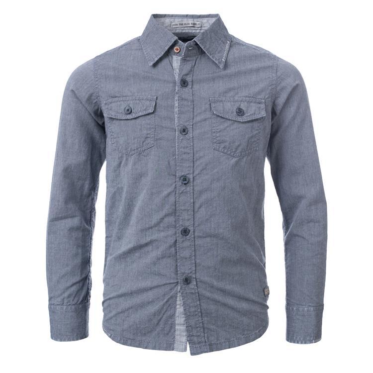 Blue Rebel SPOT ON - shirt - Grey - dudes
