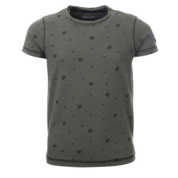 Blue Rebel SPOT ON - t-shirt ss - Army - dudes