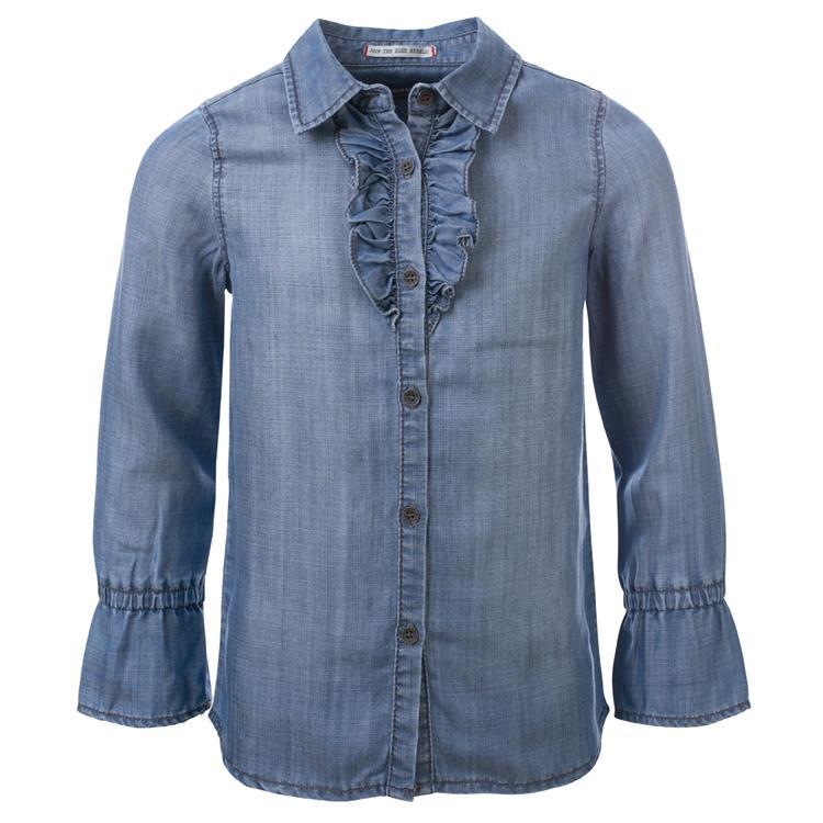 Blue Rebel SPOT ON - blouse long sleeve - Blue - betties