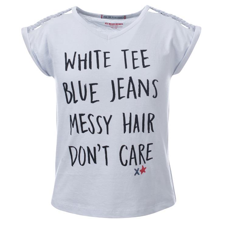 Blue Rebel SPOT ON - t-shirt short sleeve - Pearl - betties
