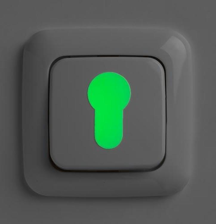 SecuCare Glow in the dark stickers