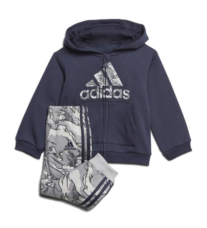 adidas Logo FZ Fleece Hooded Joggingpak Y