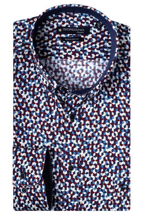 Giordano Overhemd LM Block 207018