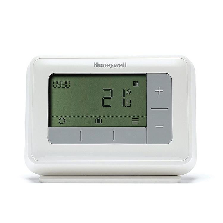 Honeywell Home T4R draadloze klokthermostaat - aan/uit en modulerend