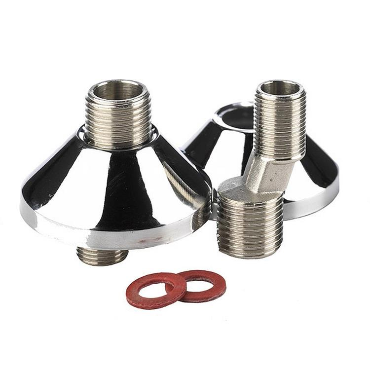 BPE s-koppeling - 3/8'' x 3/4'' met rozet 2 stuks