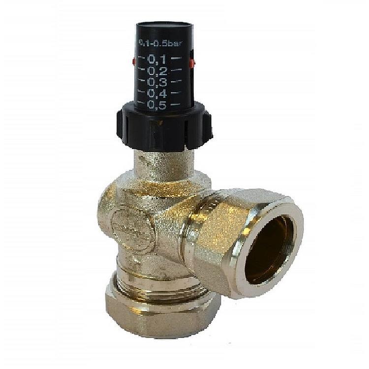 Fix drukverschilregelaar / by-pass - 22 mm knel
