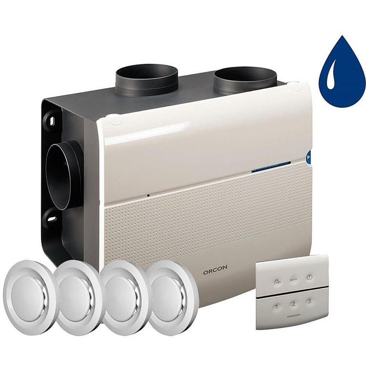Orcon Smartline MVS-15RHBP woonhuisventilator - renovatiepakket