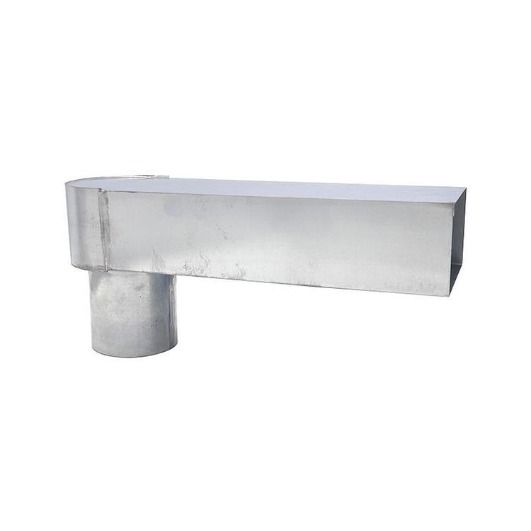 Stadsuitloop - 60-100 mm x 80 mm zink