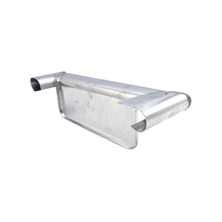 Kopschot bakgoot B30 links - hoekmodel met kraal zink