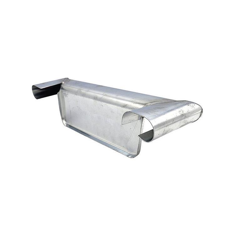 Kopschot bakgoot B30 rechts - hoekmodel met kraal zink