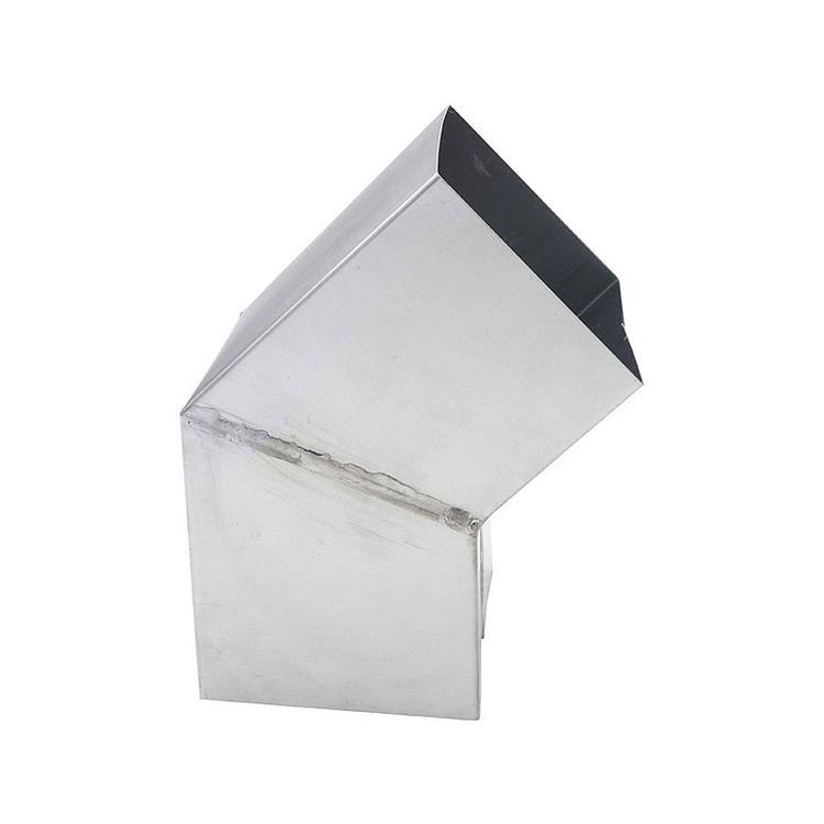 Bocht vierkant verstek - 100 mm zink 45 gr