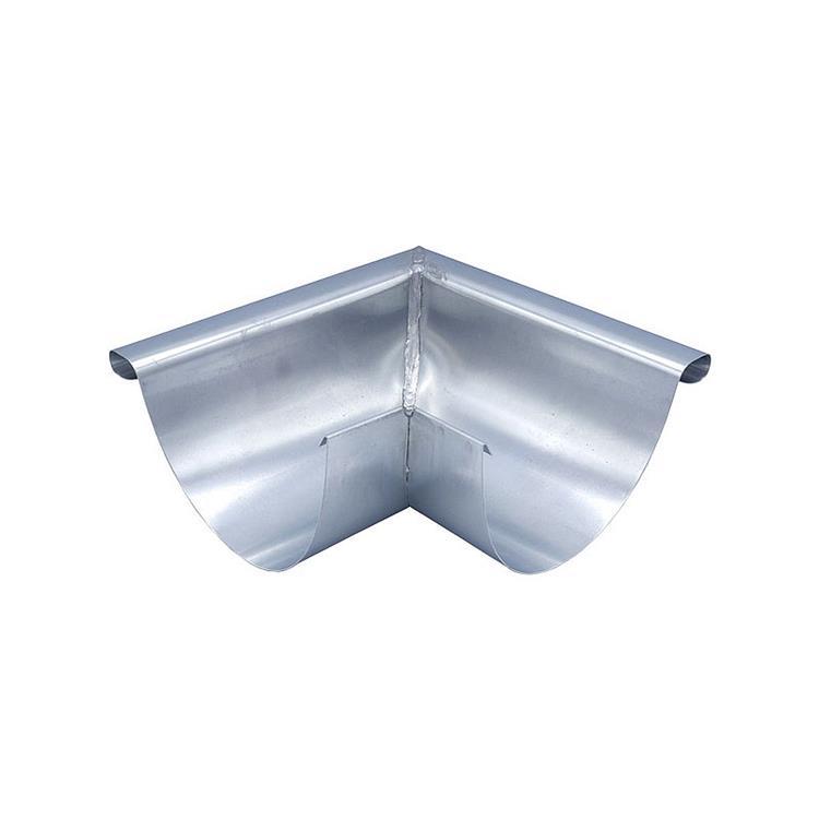 Buitenhoek mastgoot M30 - zink