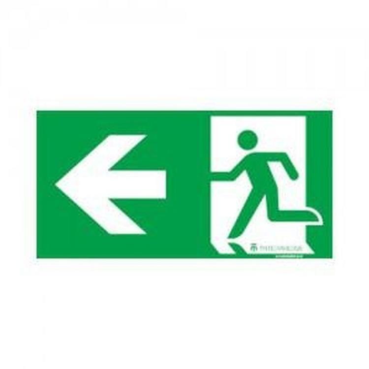Fix noodverlichting sticker - pictogram links