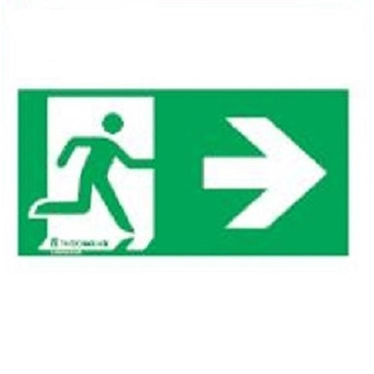 Noodverlichting sticker - pictogram rechts