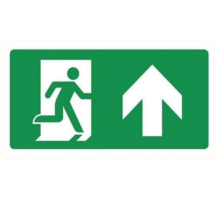 Noodverlichting sticker - pictogram rechtdoor