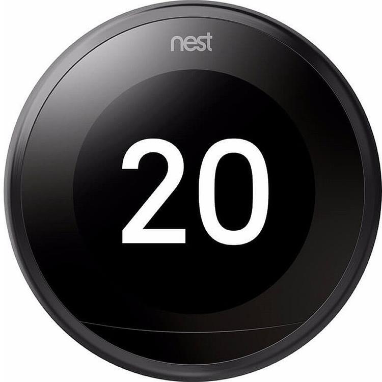 Google Nest Learning slimme thermostaat 3e generatie - zwart