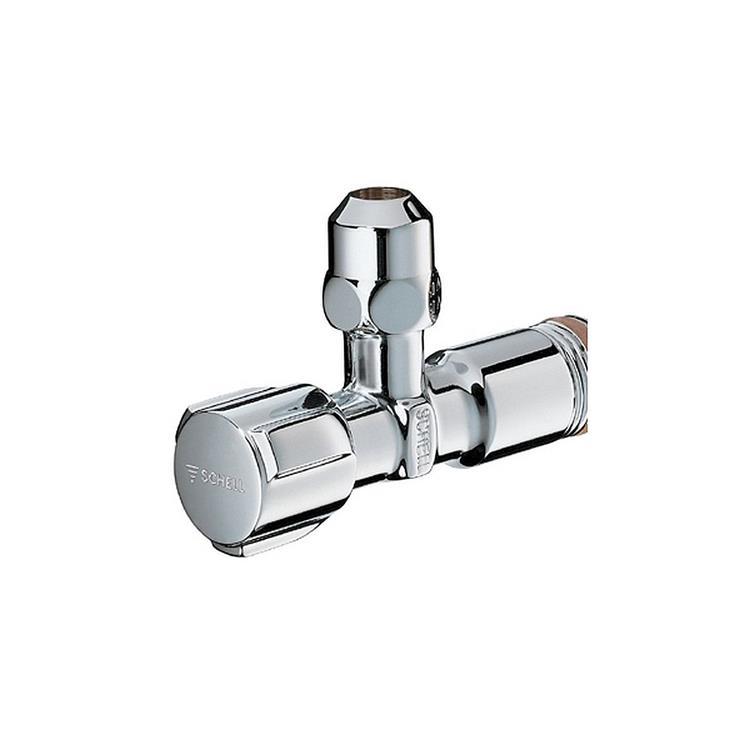 """Schell Comfort hoekstopkraan - 3/8"""" x 10 mm zonder rozet chroom"""