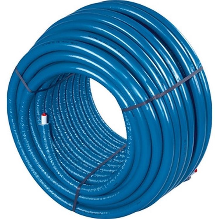 Uponor Uni Pipe PLUS S4 flexibele meerlagenbuis met isolatie - 16 x 2 mm 100 meter blauw