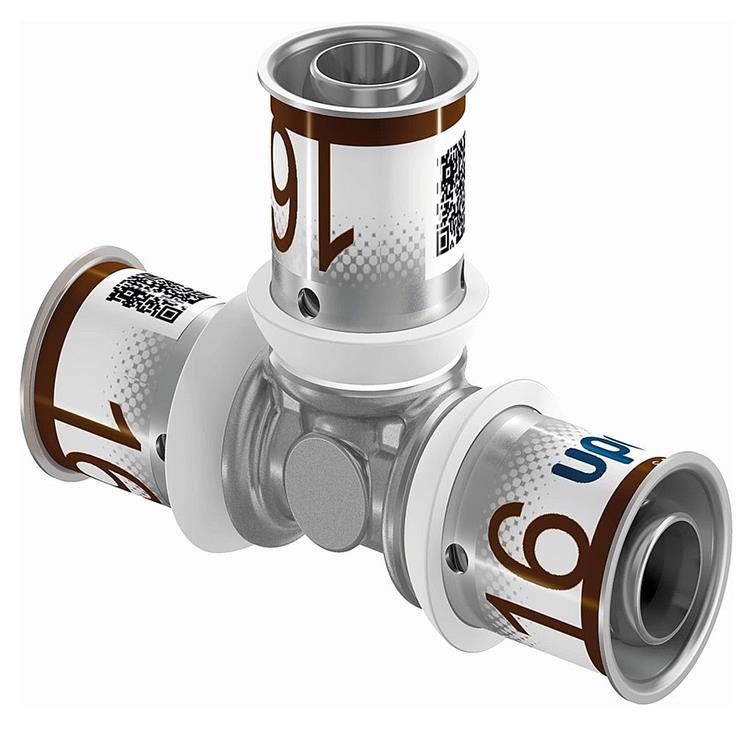 Uponor S-Press Plus T-stuk - 16 mm pers