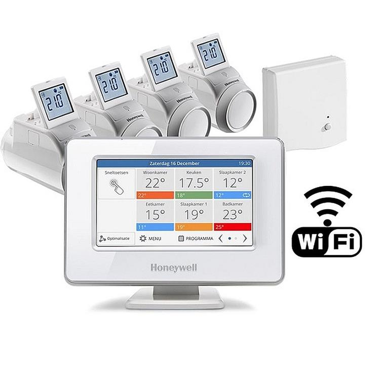 Honeywell Home Evohome zoneregeling WIFI 4 zones - modulerend