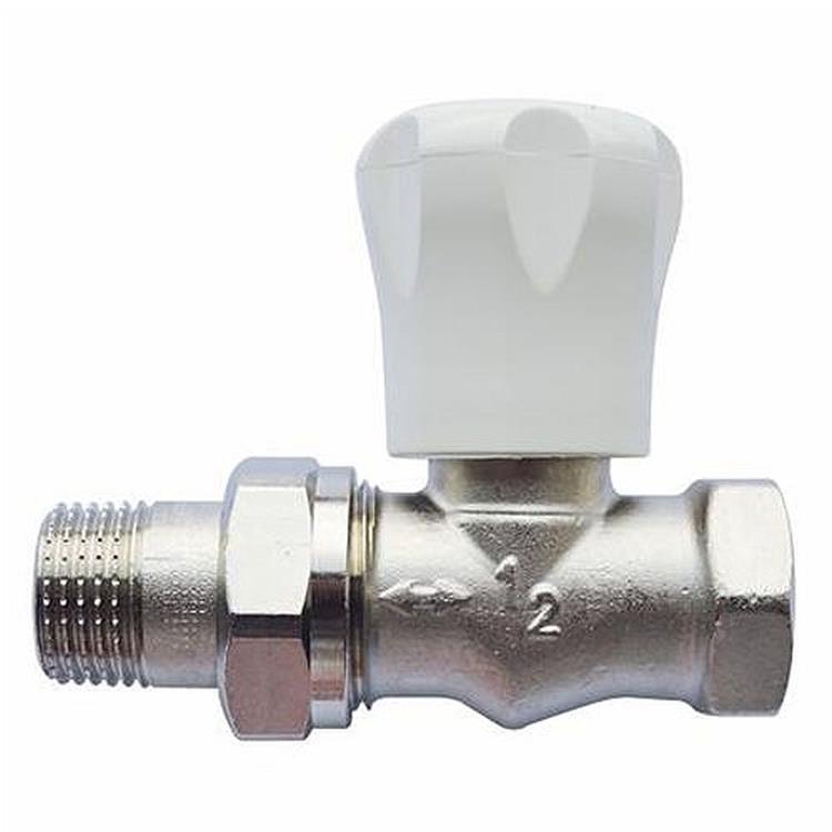 Herz AS-T handbediende radiatorkraan - recht 3/8''xM28