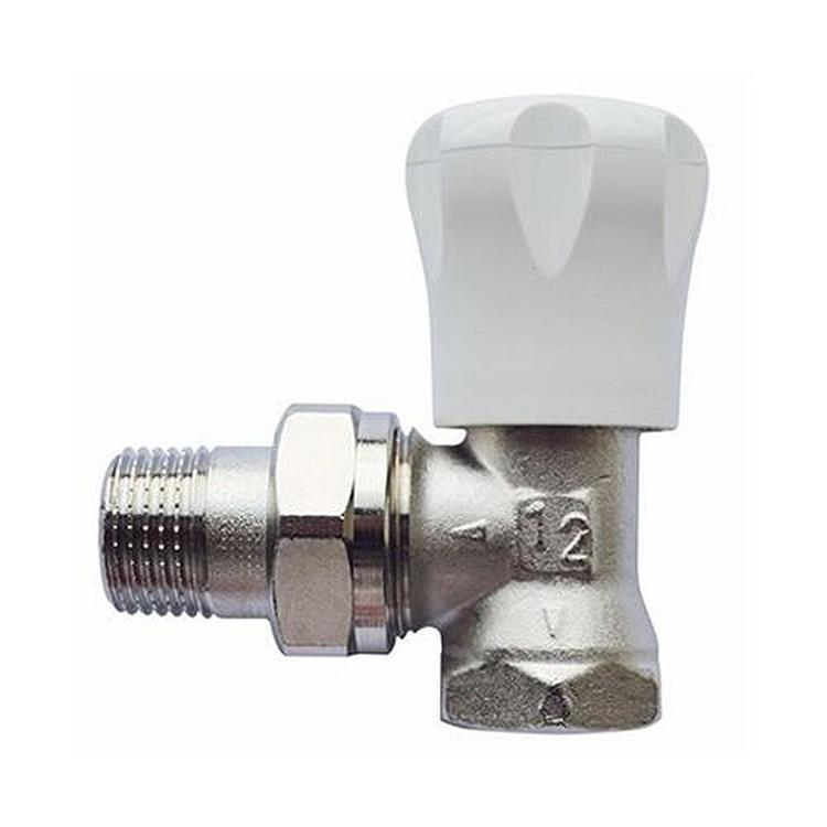 Herz AS-T handbediende radiatorkraan - haaks 1/2''xM28