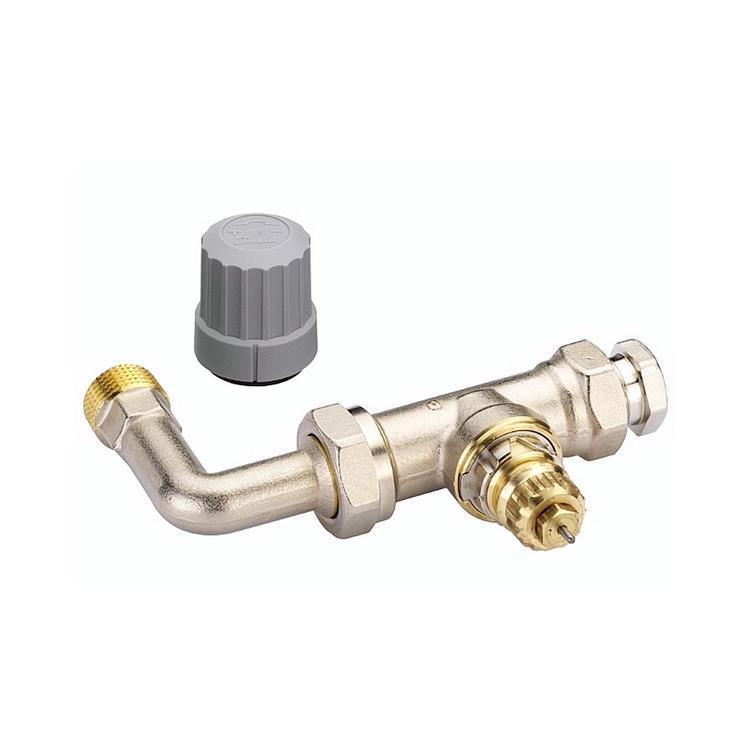 """Danfoss RA-N thermostatische radiatorkraan - recht met bocht 1/2""""x15 mm"""
