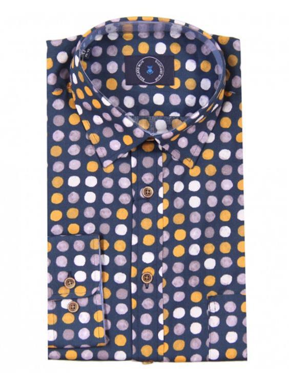 Scotland Blue Overhemd LM 20307WA59SB