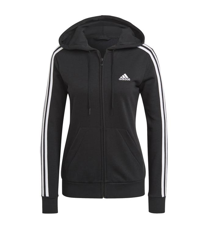 adidas Essentials French Terry 3-Stripes Full-Zip Hoodie W
