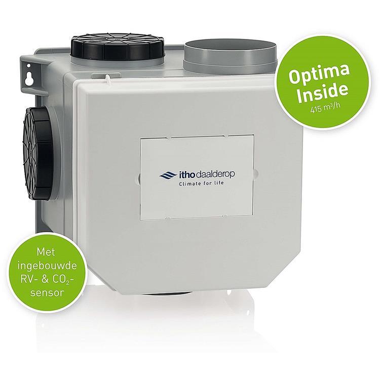 Itho Daalderop CVE-S Optima Inside ventilatiepakket - euro- en perilexstekker