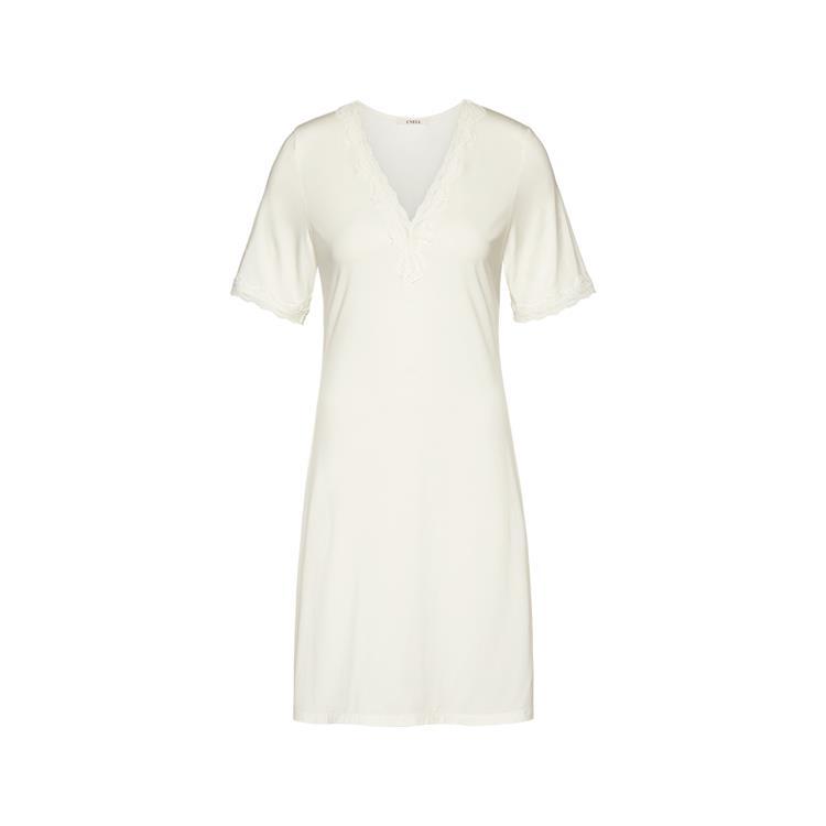 Cyell jurk korte mouw Ivory