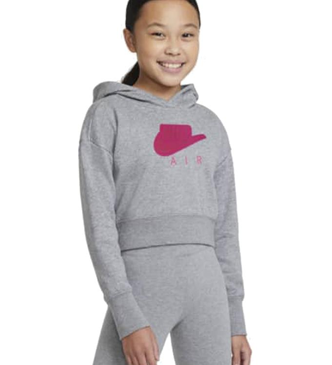 Nike Air Big Kids Girls Cropped Hoodie