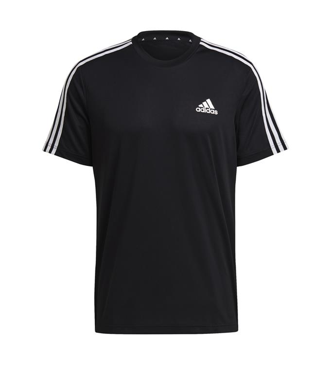 adidas Men D2M 3-Stripes T-shirt