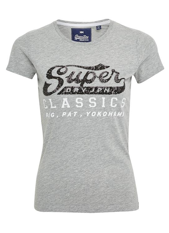 Superdry T-Shirt Sequin Entry