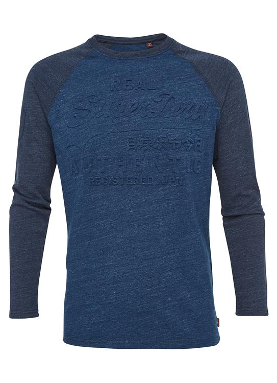 Superdry T-Shirt LS Embossed