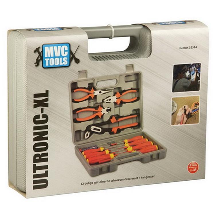 ACTIE | Gereedschapset Ultronic XL 12- delig + tangen in koffer