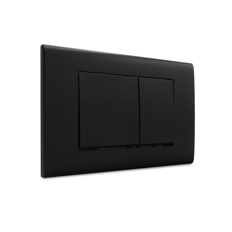 Dynamic Way bedieningspaneel - vierkant mat zwart - Geberit UP320 en UP720