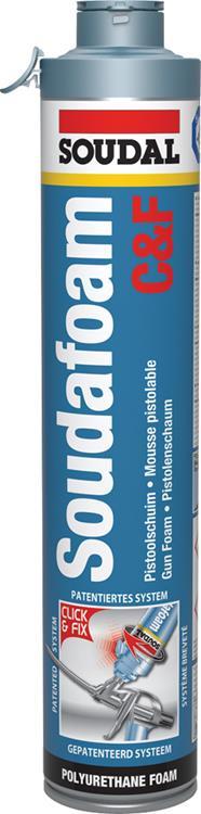 SOUDAL Soudafoam Click & Fix pur pistoolschuim/ isolatieschuim 750 ml.