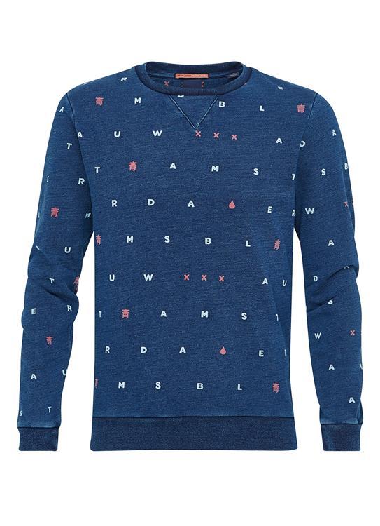 Amsterdams Blauw sweater met ronde hals