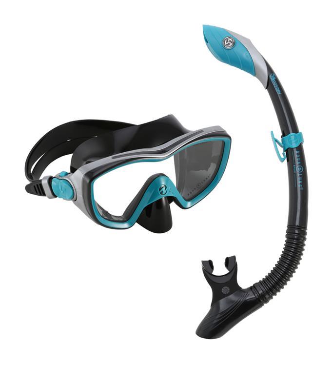 Aqua Lung Sport Bonita Combo Dark Green/Black M Snorkelset