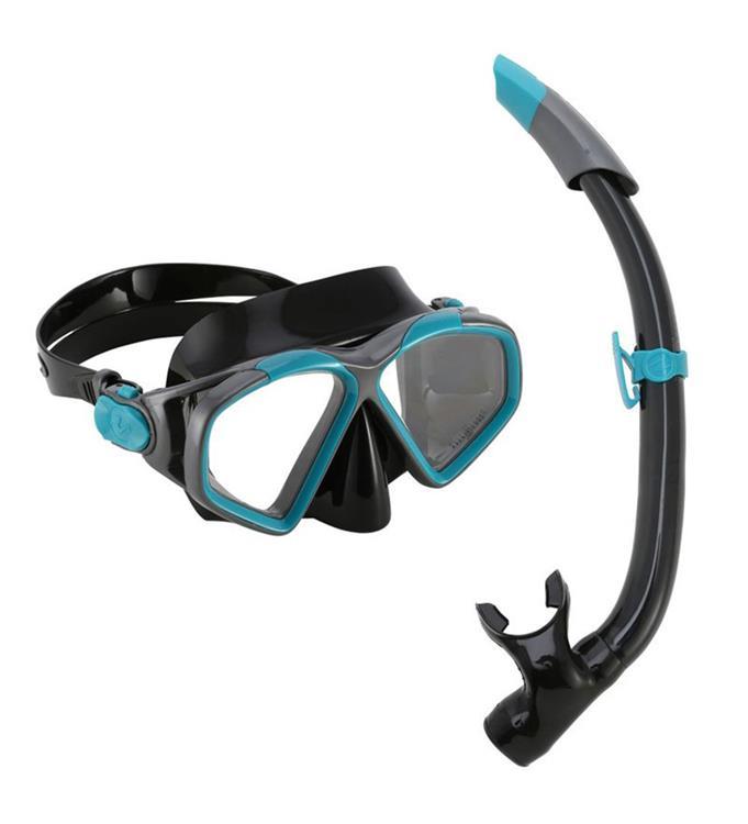 Aqua Lung Sport Hawkeye Combo Dark Green/Black L Snorkelset