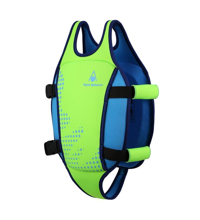 Aqua Sphere Swim Vest Fluo Green/Light Blue 2-3Y