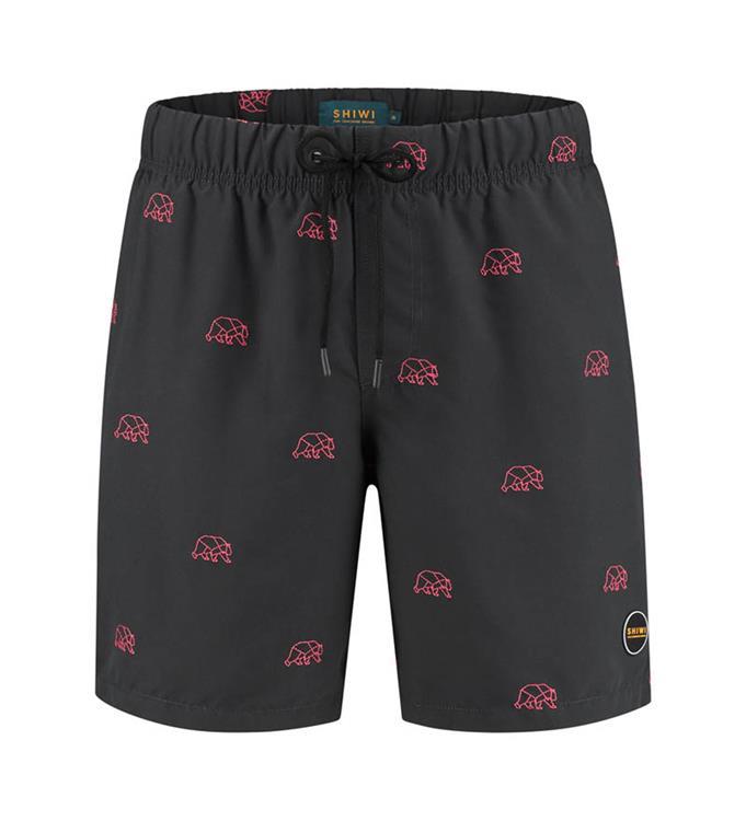 Shiwi Men Bear Embroidery Zwemshort