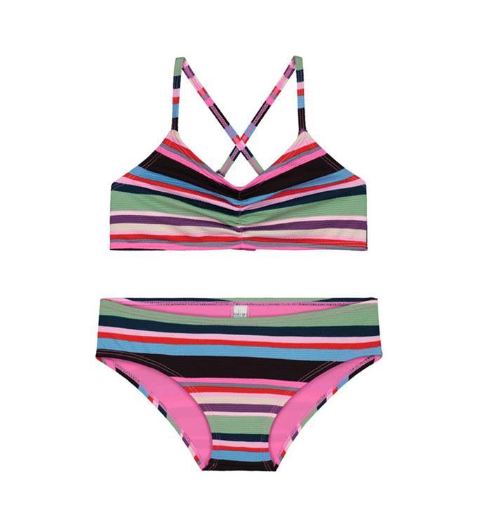 Shiwi Girls Mod Stripe Scoop Top Bikini