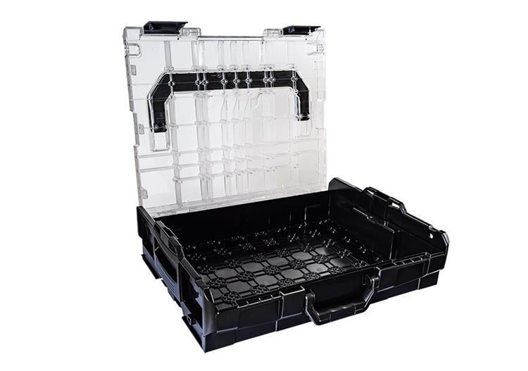 L-BOXX 102 koffer tranparant inclusief inzetbakjes set K3